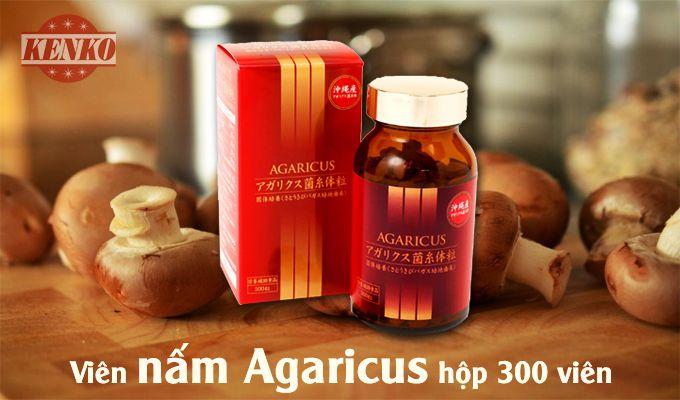 nấm agaricus hộp 300 viên