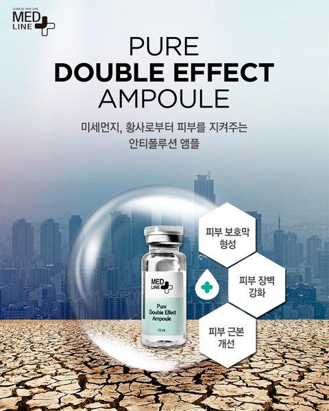Tinh chất làm trắng và chống nếp nhăn Medline Pure Double Effect Ampoule