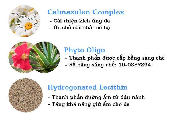 Thành phần Medline Calmazulen Capsule Serum
