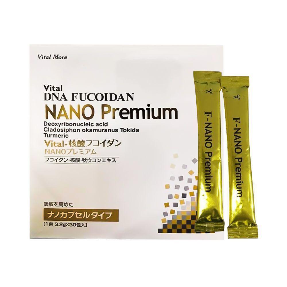 Vital DNA Fucoidan Nano Premium – Hỗ trợ tăng miễn dịch với thành phần Mozuku, sữa cá hồi, nghệ mùa thu