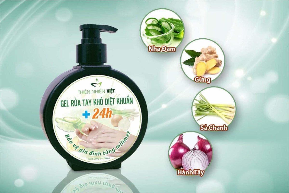 Gel rửa tay khô diệt khuẩn, bảo vệ cơ thể 24 giờ